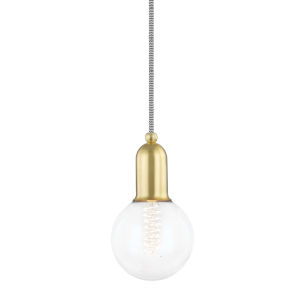 Bryce Aged Brass One-Light Mini Pendant
