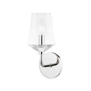 Kayla Polished Nickel One-Light Bathroom Vanity Light