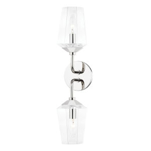 Kayla Polished Nickel Two-Light Wall Sconce