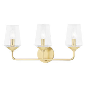 Kayla Aged Brass Three-Light Bath Vanity