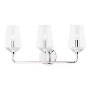 Kayla Polished Nickel Three-Light Wall Sconce