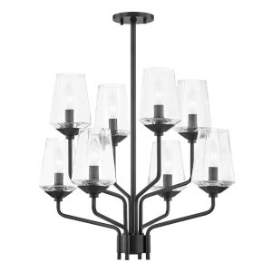 Kayla Old Bronze Eight-Light Chandelier