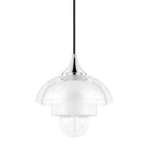 Ruby Polished Nickel One-Light Dome Mini Pendant