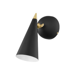 Moxie Aged Brass and Black One-Light Wall Sconce