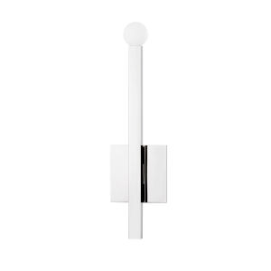 Dona Polished Nickel One-Light Wall Sconce