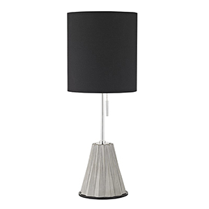 Devon Polished Nickel 1-Light 9-Inch Table Lamp