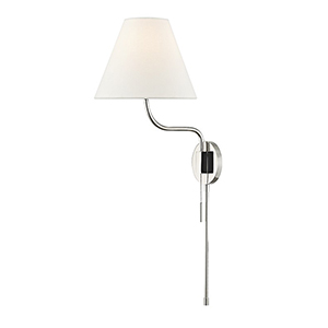 Patti Polished Nickel 1-Light 10.5-Inch Wall Sconce