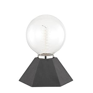 Lynn Graphite 1-Light Seven-Inch Table Lamp