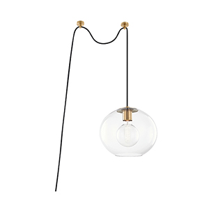 Margot Aged Brass One-Light Pendant