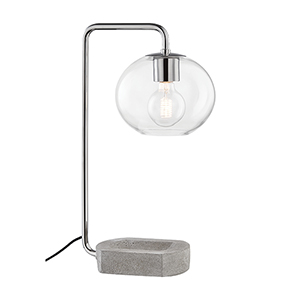 Margot Polished Nickel One-Light Table Lamp