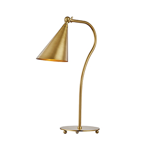 Lupe Aged Brass One-Light Table Lamp