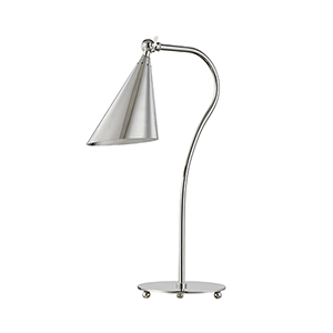 Lupe Polished Nickel One-Light Table Lamp