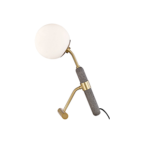 Brielle Aged Brass One-Light Table Lamp