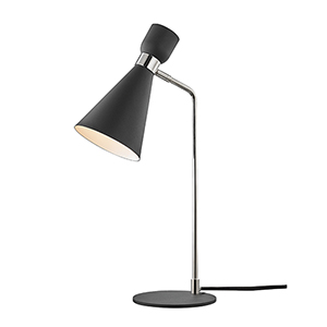 Willa Polished Nickel and Black One-Light Table Lamp