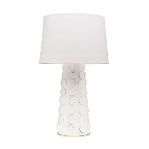 Naomi White and Gold One-Light Table Lamp