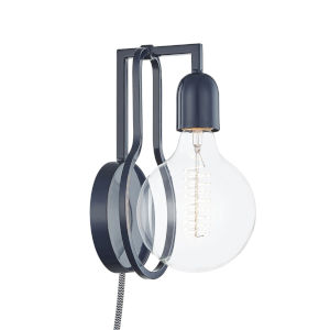 Darcie Navy One-Light Wall Sconce