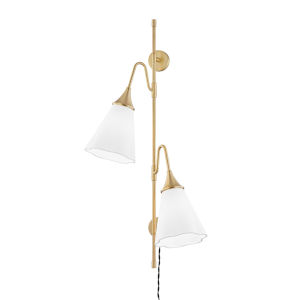 Mara Aged Brass Two-Light Wall Sconce