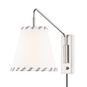 Hannah Polished Nickel One-Light Wall Sconce