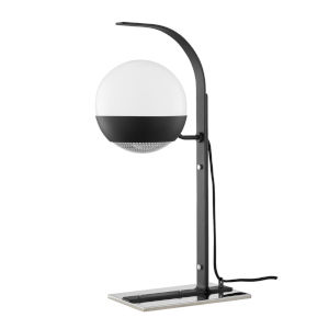 Aly Polished Nickel and Black One-Light Table Lamp