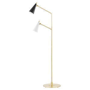 Moxie Aged Brass One-Light Armchair Floor Lamp