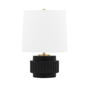 Kalani Matte Black One-Light Accent Table Lamp