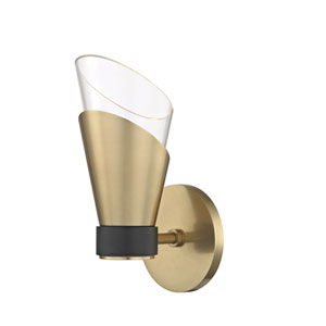 Angie Aged Brass 5-Inch LED Wall Sconce