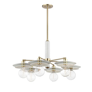 Milla Aged Brass 36-Inch Six-Light Chandelier