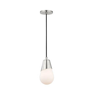 Cora Polished Nickel 5-Inch One-Light Mini Pendant