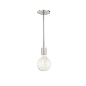 Ava Polished Nickel 5-Inch One-Light Mini Pendant