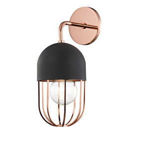 Haley Polished Copper 6-Inch One-Light Wall Sconce