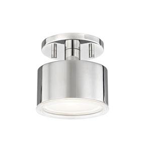 Nora Polished Nickel 5-Inch LED Flush Mount