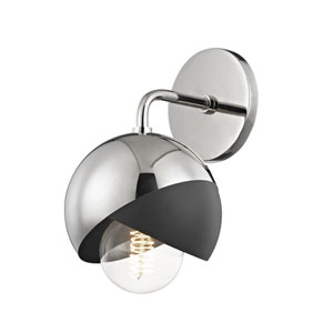 Emma Polished Nickel 6-Inch One-Light Wall Sconce