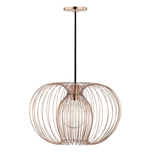 Jasmine Polished Copper 17-Inch One-Light Pendant