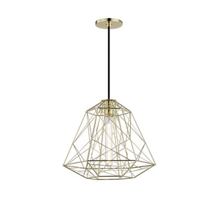 Ani Polished Brass 16-Inch One-Light Pendant