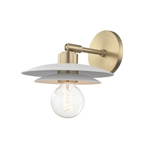 Milla Aged Brass 8-Inch One-Light Wall Sconce