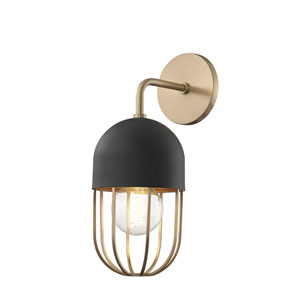 Haley Aged Brass 6-Inch One-Light Wall Sconce