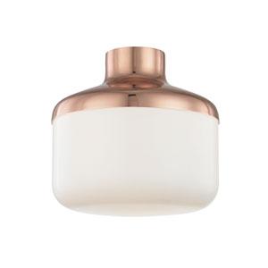 Livvy Polished Copper 12-Inch One-Light Flush Mount