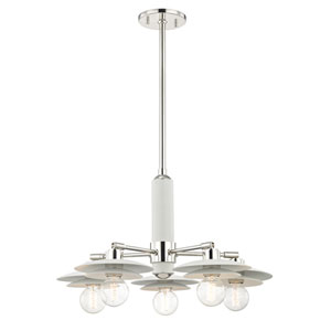 Milla Polished Nickel 26-Inch Five-Light Chandelier