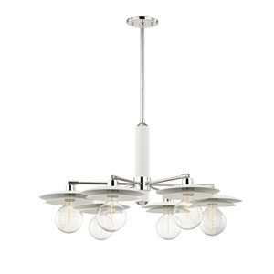 Milla Polished Nickel 36-Inch Six-Light Chandelier