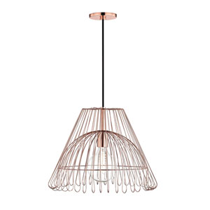 Katie Polished Copper 18-Inch One-Light Pendant