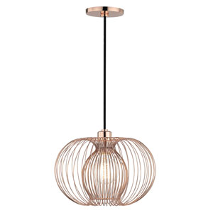 Jasmine Polished Copper 12-Inch One-Light Pendant