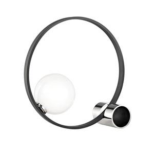 Zena Polished Nickel 7-Inch LED Table Lamp
