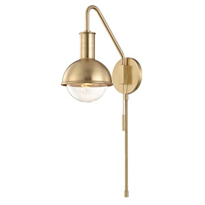 Riley Aged Brass 6-Inch One-Light Wall Sconce
