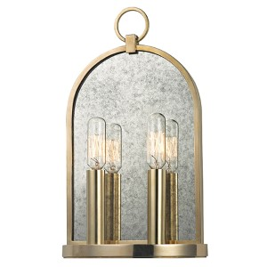 Lowell Aged Brass Two-Light Wall Sconce