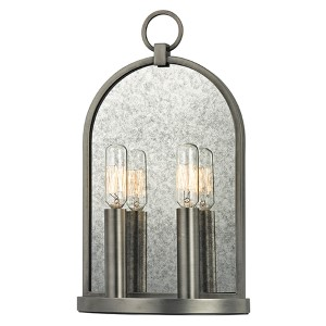 Lowell Antique Nickel Two-Light Wall Sconce