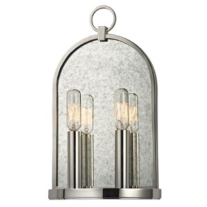 Lowell Polished Nickel Two-Light Wall Sconce