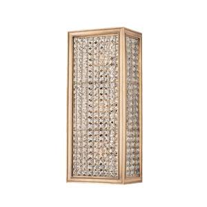 Norwood Aged Brass Three-Light Wall Sconce
