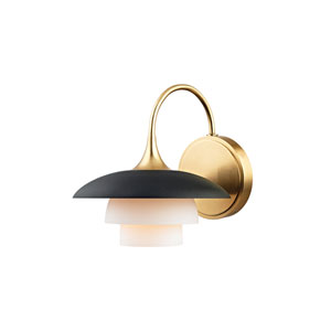 Barron Aged Brass and Black One-Light Wall Sconce