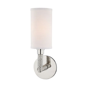 Dubois Polished Nickel 4-Inch One-Light Wall Sconce