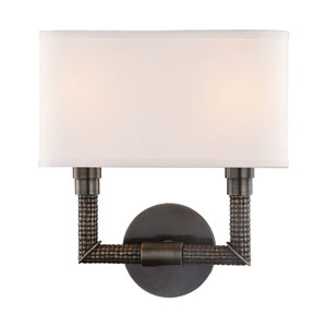 Dubois Distressed Bronze 11-Inch Two-Light Wall Sconce